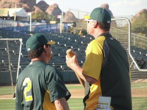 Mike Gallego clearly looks up to Bob Melvin