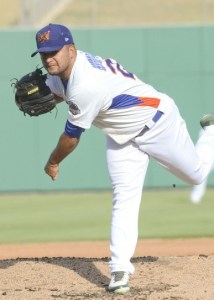 Midland RockHounds Pitcher Carlos Hernandez (6 IP / 5 H / 1 ER / 1 BB / 4 K / Win)