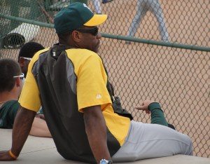 Rickey in a rare moment of repose
