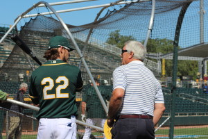 Josh Reddick and Ray Fosse