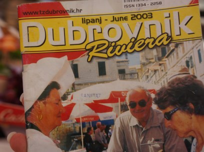 The same merchant was featured years ago in a Dubrovnik Guidebook.