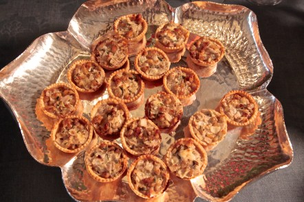 Case in point: Individual onion pies with blue cheese and walnuts.