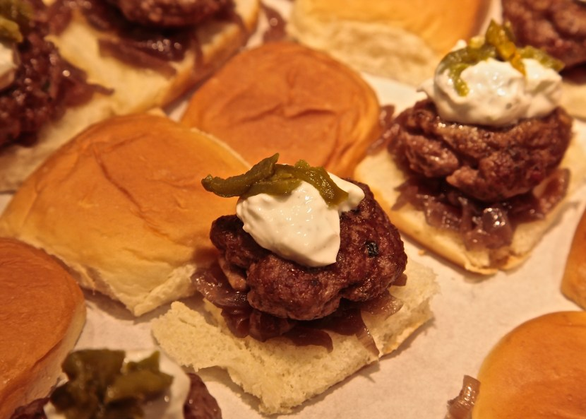 The Lamb Sliders were simply seasoned with salt, pepper, with fresh Italian oregano from my garden.