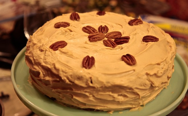 The cake by itself is sensational, and frosted with a Caramel Cream Cheese Frosting -- it's spectacular!