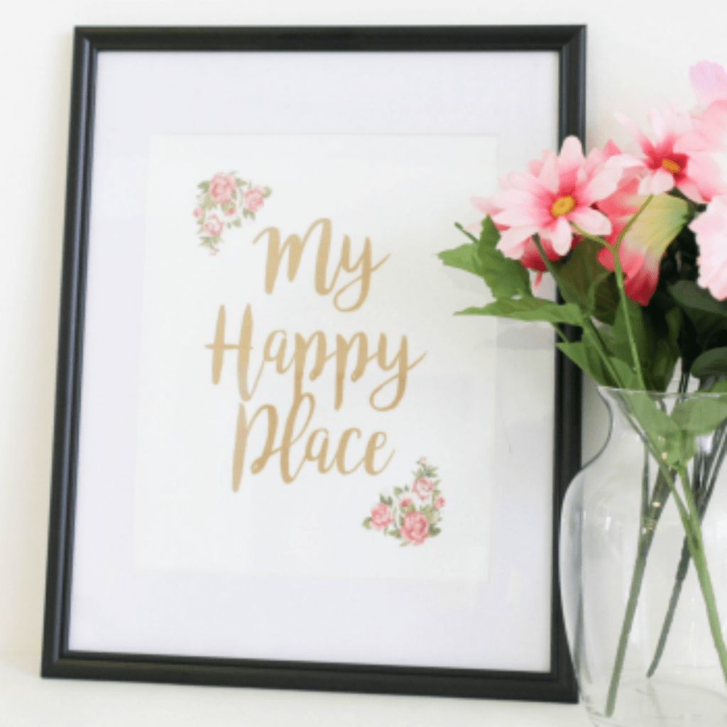 Home is My Happy Place Free Printable