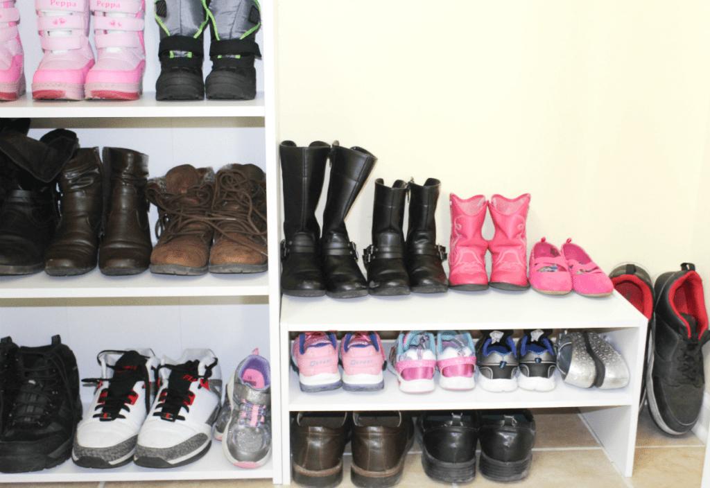 Entryway organization - shoes