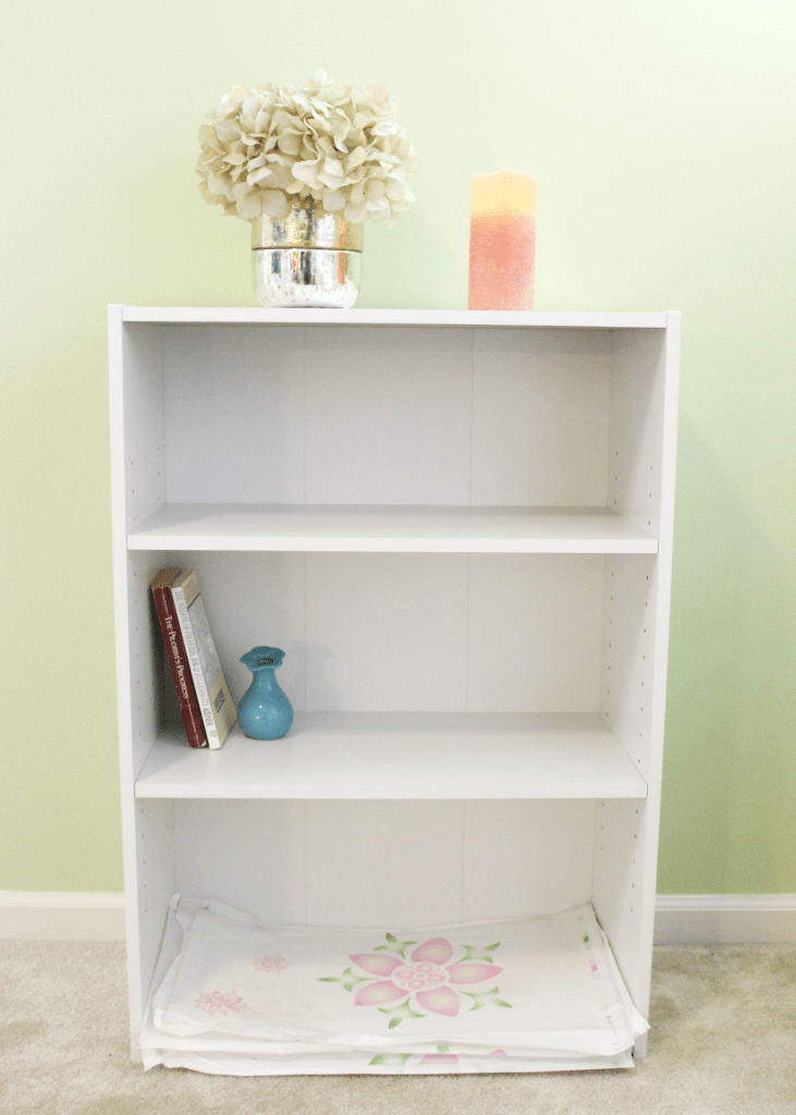 Entryway organization - with small bookshelf