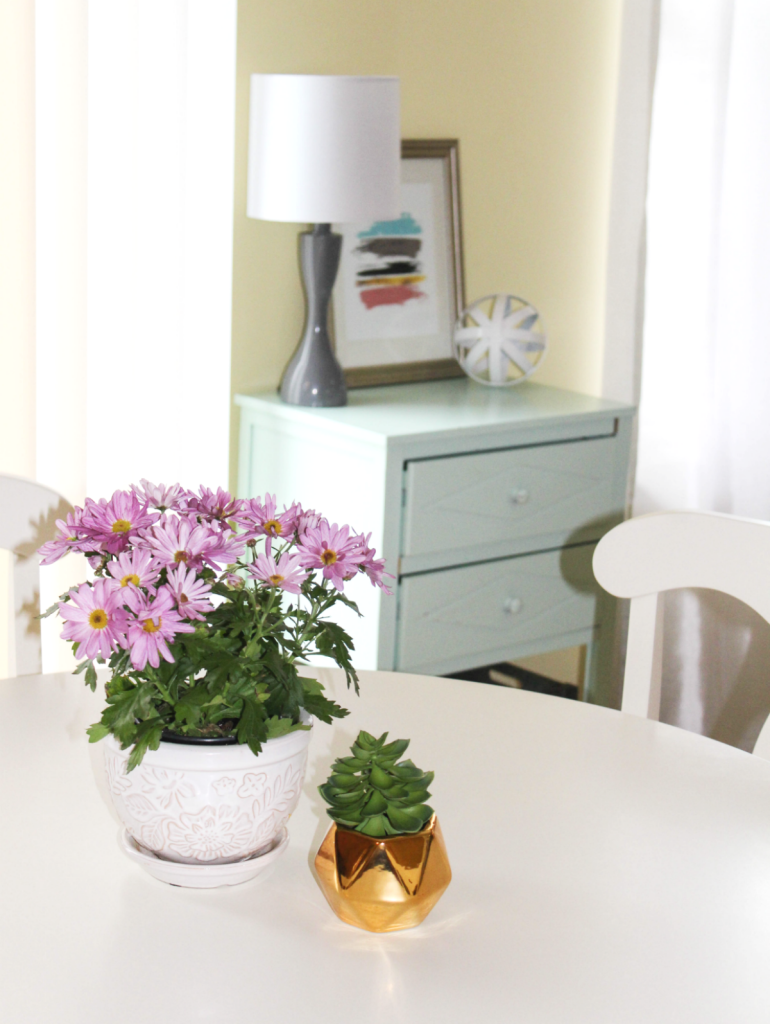 Breakfast Nook Reveal - with desk and print