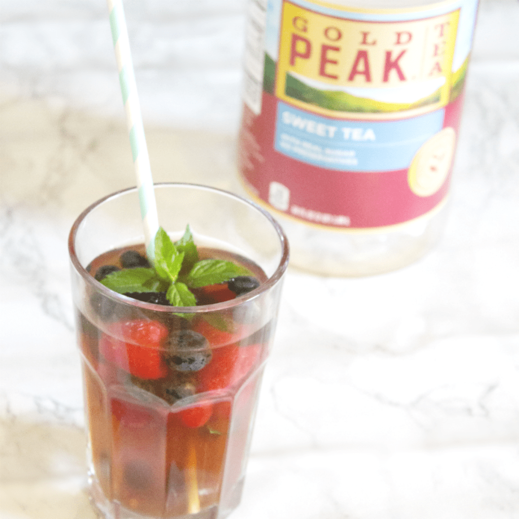 Mixed Berry Iced Tea - Gold Peak Tea from Jewel Osco - At Home With Zan