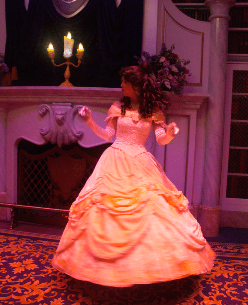Orlando Vacation - Disney's Magic Kingdom - Princess Belle - At Home With Zan
