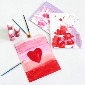 Canvas Art Painting - Painting With Kids - Kids Art - At Home With Zan