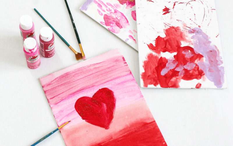 DIY Canvas Painting Activity For Toddlers Through Kindergarten