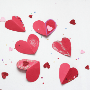 Valentine's Heart Cards - DIY - For Kids- At Home With Zan