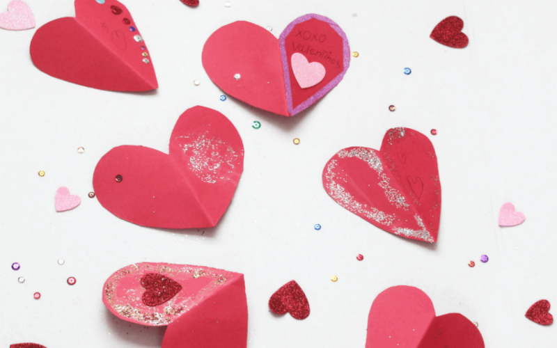 DIY Valentine's Friendship Heart Cards Kids Can Make