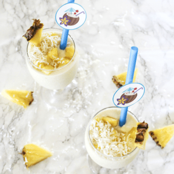 Pineapple Mango and Coconut Tropical Smoothie - At Home With Zan-