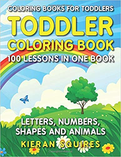 Lettes - Numbers - Shapes Coloring Book - Holiday Gift Guide for 3-5 Year Olds - At Home With Zan