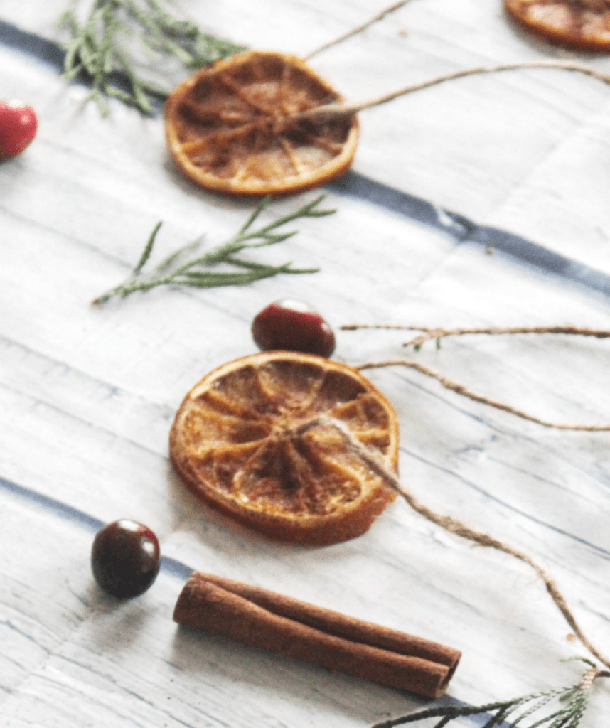 Dried Orange Slices - Made with Cinnamon - Holidays - From At Home With Zan -