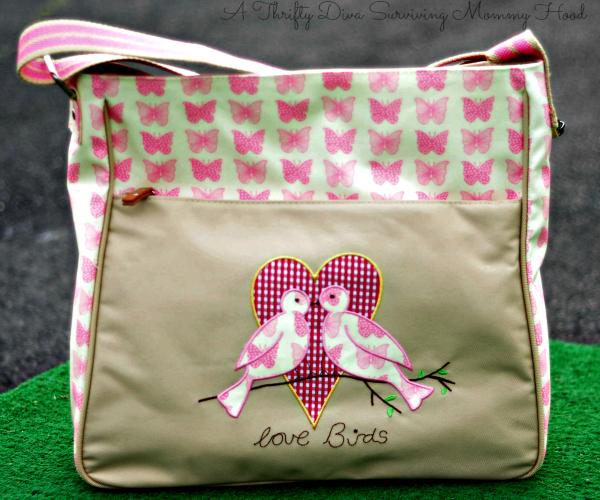 yummy mummy pink lining poppins diaper bag