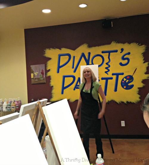 Painting in San Antonio pinots palette teacher