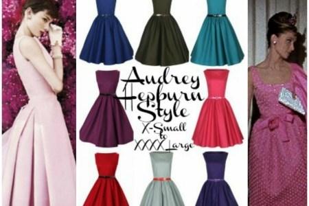 audrey hepburn style pink dress
