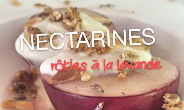 Nectarines roties
