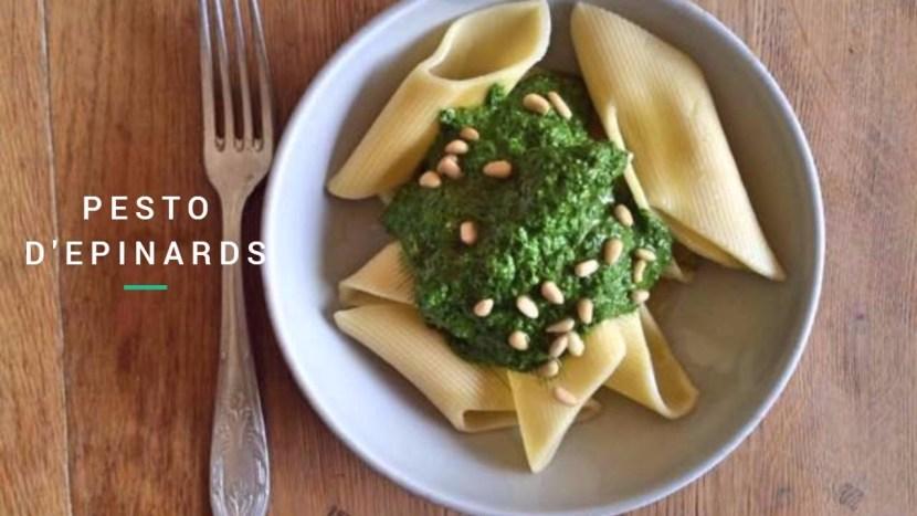 Pesto d'épinards - recettes végétariennes a tire larigot