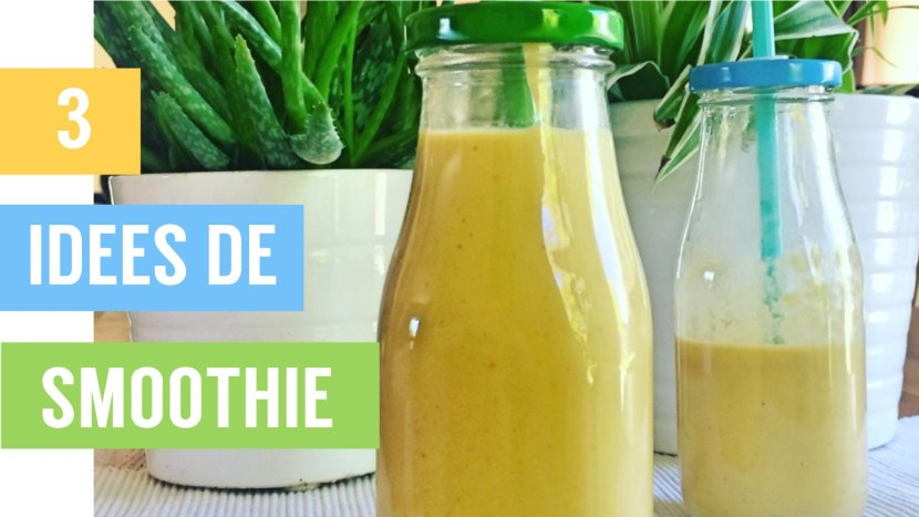 smoothies - 3 idées de smoothie pour cet été - recettes végétariennes et vegan - atirelarigot