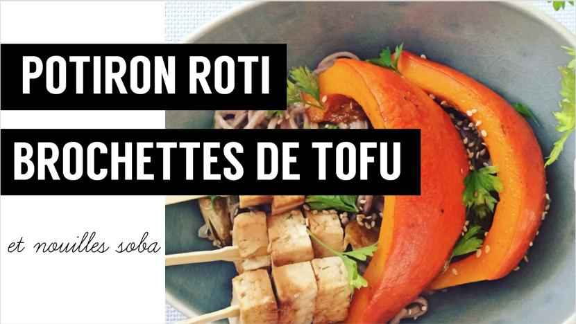 Potiron roti, brochette tofu - recettes végétariennes et vegan - atirelarigot