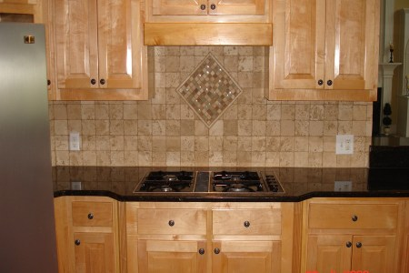 travertine kitchen backsplash
