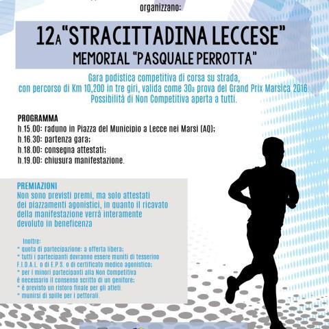 12a Stracittadina Leccese - 30° prova Grand Prix Marsica 2016