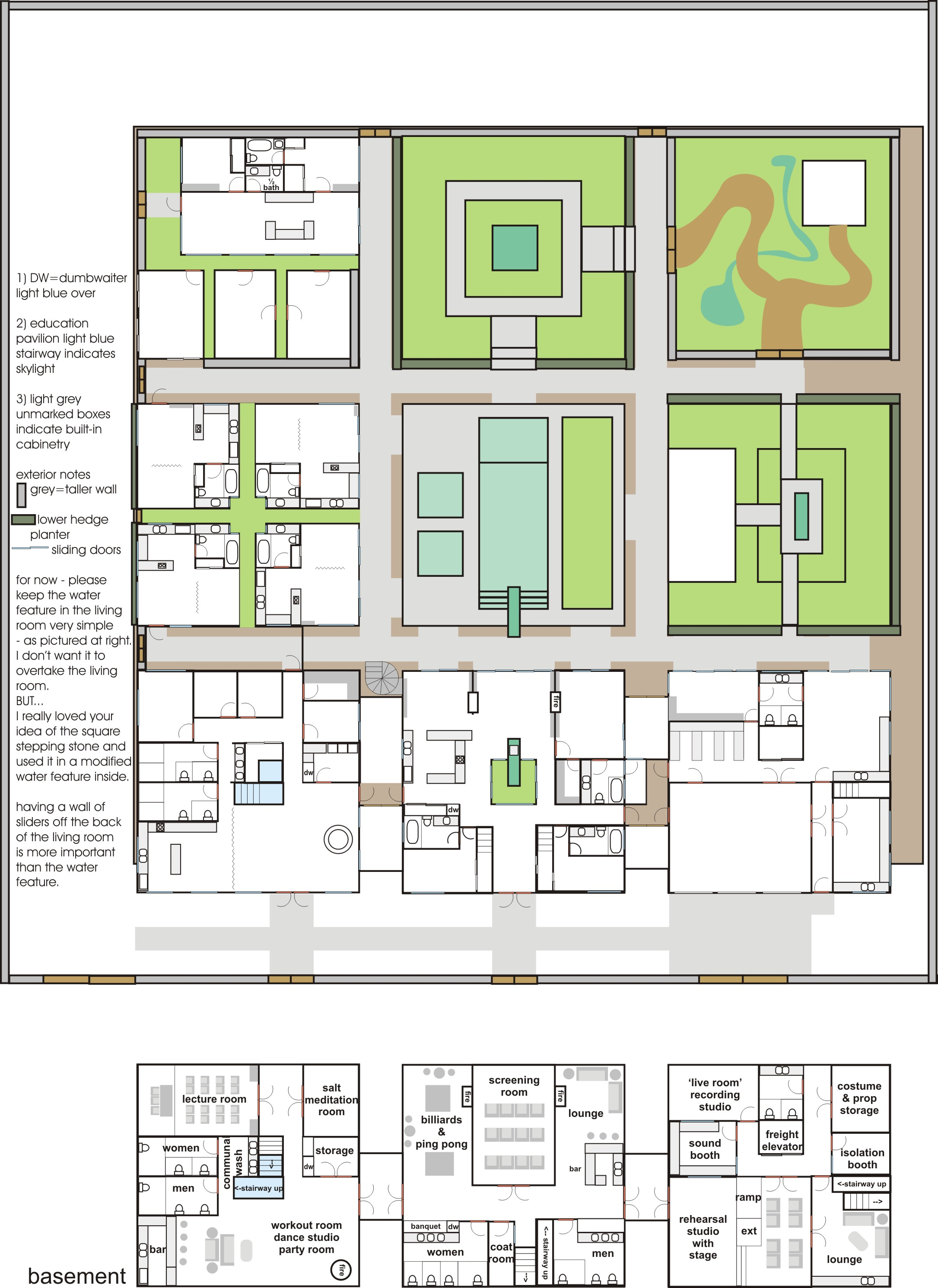Bagua House   Master PlanMaster Plan   detailed notes on furnishings