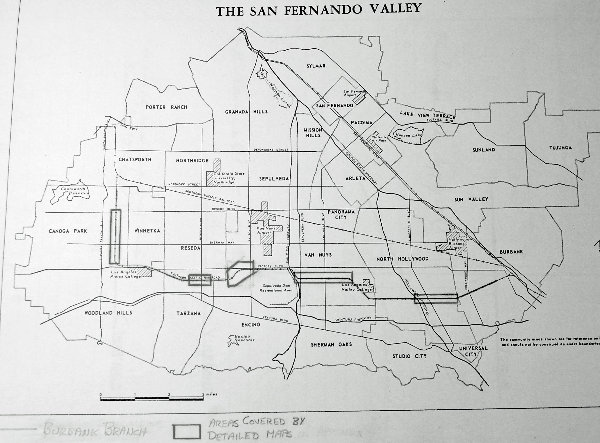 map san fernando valley