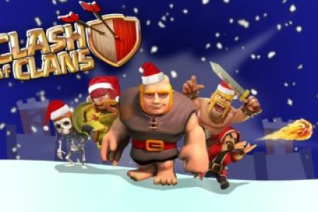 clash of clans christmas wallpaper 360x240