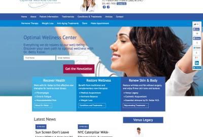 Optimal Wellness Center Website Redesign
