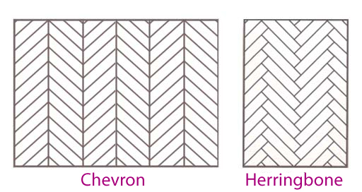 Classic patterns a complete guide attire club by f f for Chevron laminate flooring