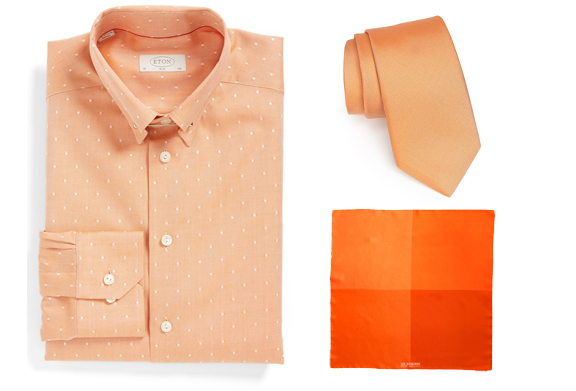 These orange pieces would work great with a neutral jacket.