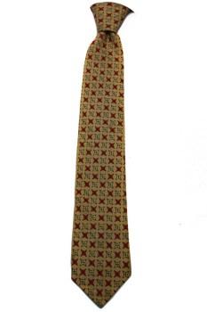 Vintage Red & Beige Skinny Cloth Tie