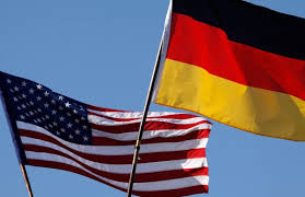 German and american flags