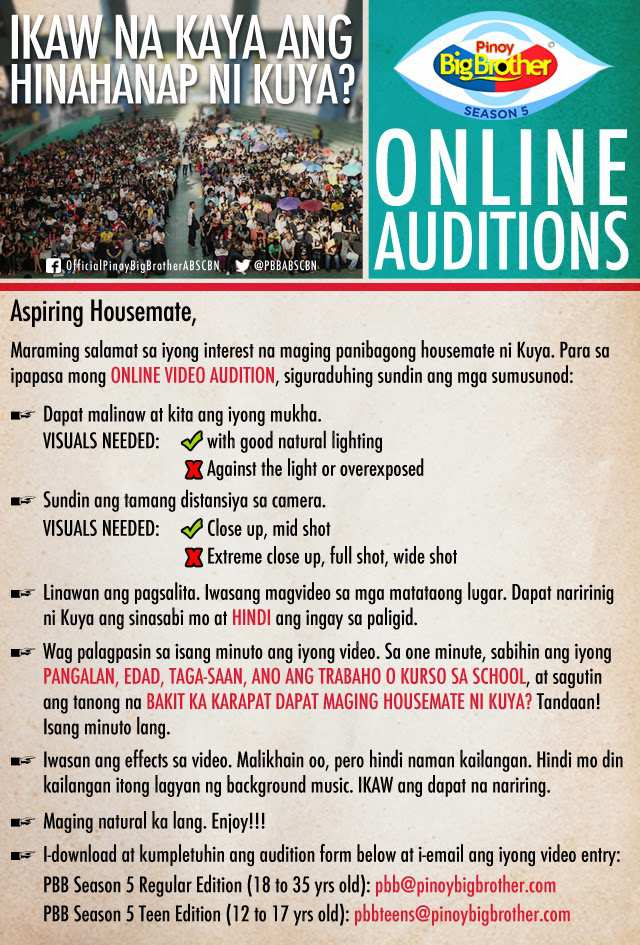 Pinoy-Big-Brother-Season-5-Online-Auditions