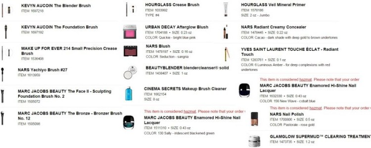Beauty Wish List :: Sephora Shopping Basket