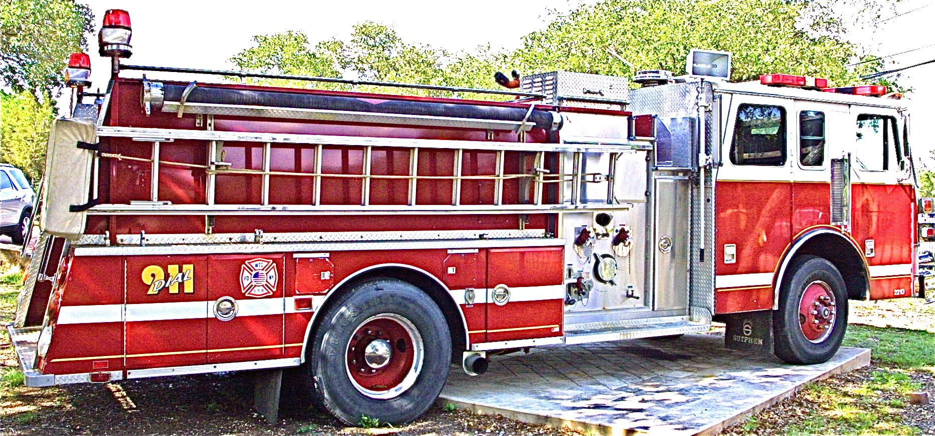 Used Fire Trucks : Buy this large red lightly used fire truck in nw austin