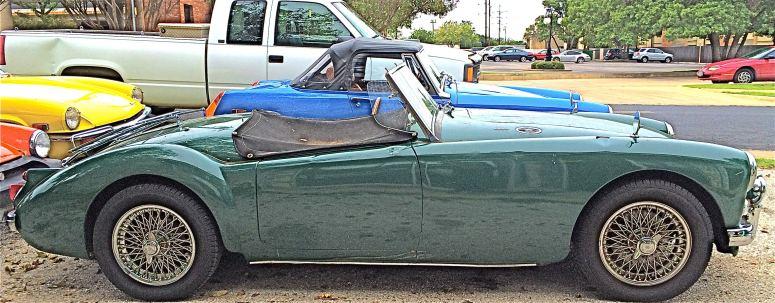 MGA 1600 at Ron Shimeks Garage side