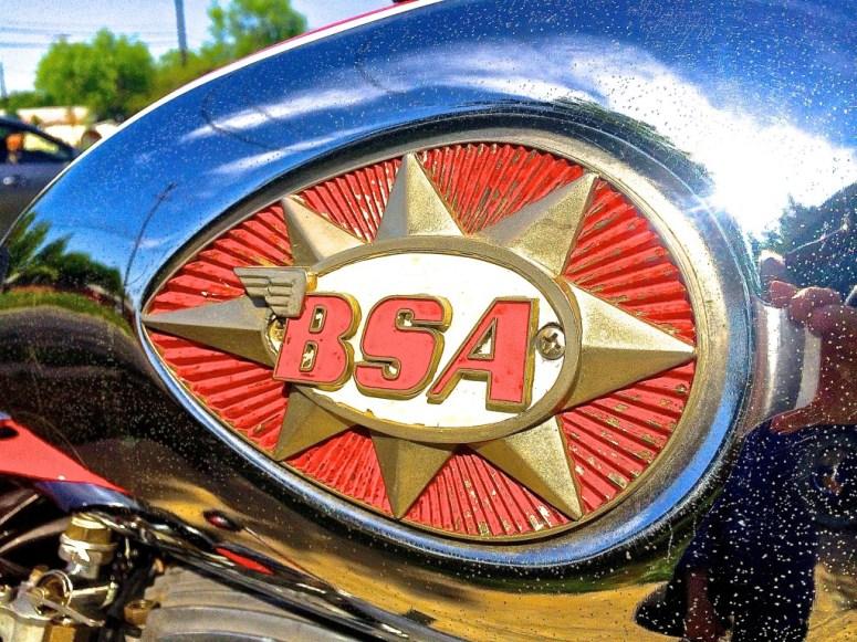 1968 BSA in Austin TX tank emblem