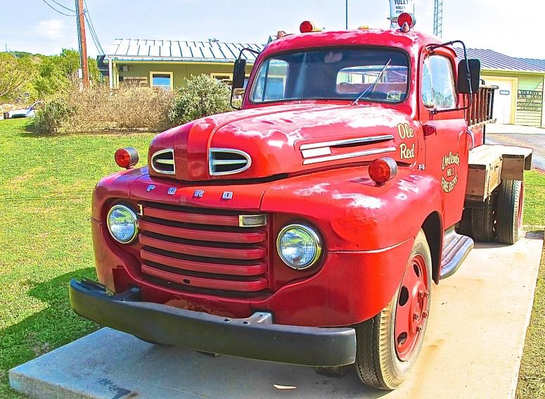 Ole Red Volente Ford F6 Fire Truck, Volente Texas