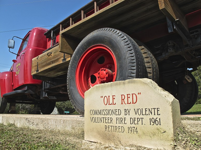 Ole Red Volente Ford F6 Fire Truck