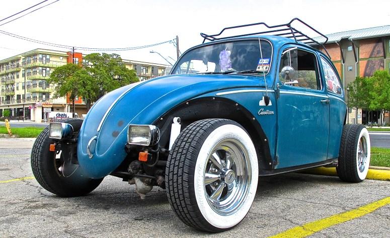 Rooster's Volkswagen custom in Austin TX front quarter view