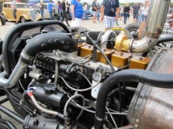 Diesel Rat Rod truck at Lonestar Round Up, Austin TX engine
