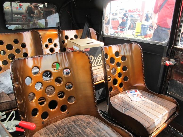 Diesel Rat Rod truck at Lonestar Round Up, Austin TX seats