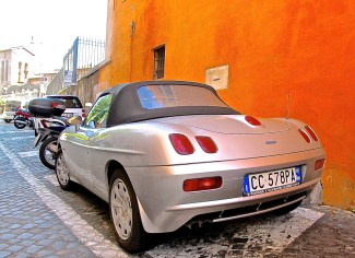 Fiat Barchetta in Rome, Italy rear view