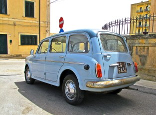 1960s Fiat 1100 Familiare Noto, Italy, rear view